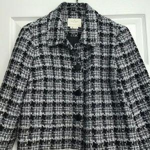 Kate Spade Tweed Jacket Detachable Rosette 10
